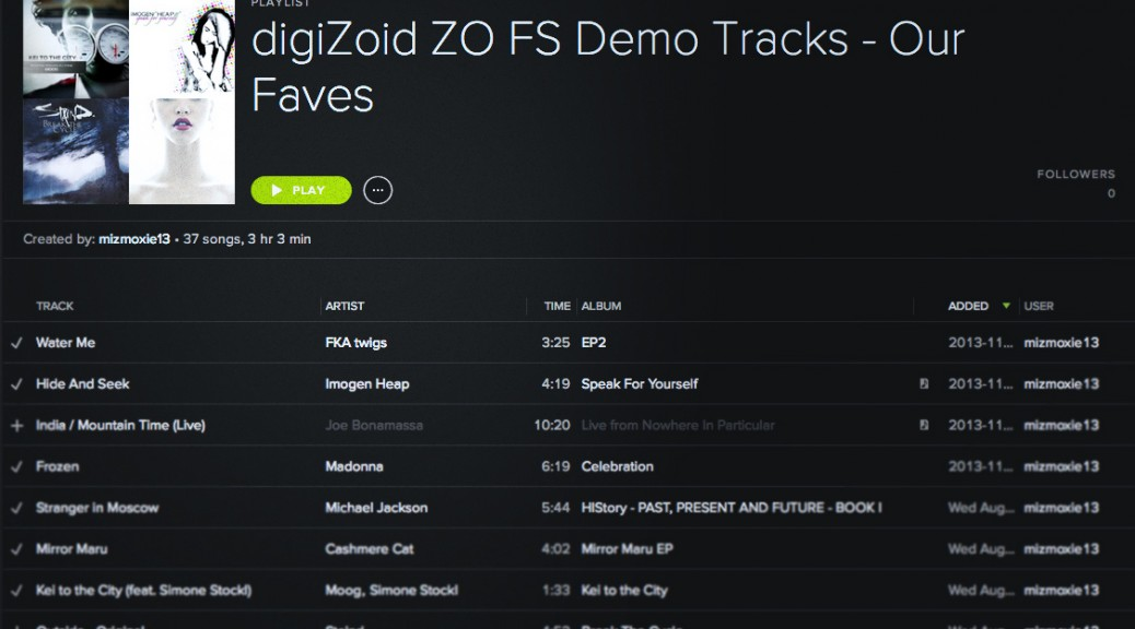 zo demo tracks